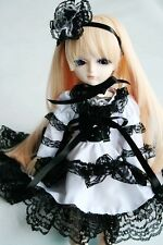 [wamami] For 1/6 SD DZ AOD BJD Doll 142# Black Lace White Dress/Clothes/Oufit