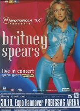 Britney Spears Hannover 2000 Rare Original Tourposter Concert Poster