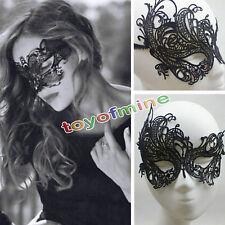 Halloween Dentelle Noir Nutterfly Boîte de Nuit Danse du Ventre Bondage Masque