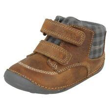 Chaussures beige à lacets en cuir pour garçon de 2 à 16 ans