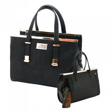 Concealed Carry Purse CCW Gun CAMELEON Vegan Leather Handbag w/ Holster, Black