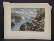 Picturesque America, c.1890 Hand Color #12 Point Noir Trinity Rock Cape Eternity
