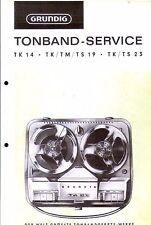Grundig Service Manual für TK 14 TK/TM/TS 19  TK/TS 23
