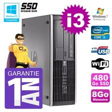 PC HP 8200 SFF Intel I3-2120 8gb Disco 480Go SSD Grabador Wifi W7