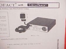 1979 TRS CHALLENGER CB RADIO SERVICE SHOP MANUAL MODEL 730