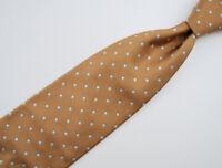"Dormeuil Paris Men's Tie in 100% Patterned Silk Made in France 58"" Brown Blue"