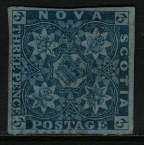 Nova Scotia #2a Very Fine Used - Few Well Hidden Thins **With Certificate**