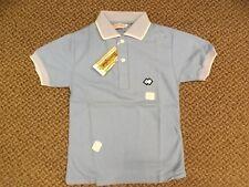 Sporty Rockabilly Vtg 1950s NEW NOS Blue 100% Cotton Summer Polo Shirt Boys Sz 7