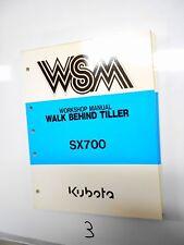 Kubota Model Sx700 Walk Behind Tiller Workshop Manual 97897 11190