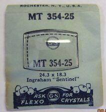 GS MT354-25 Watch Crystal for INGRAHAM Sentinel  Vintage NOS