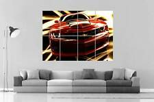 CHEVROLET CAMARO RED Wall Poster Grand format A0 Large Print