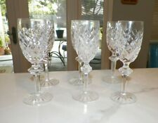 Waterford Crystal Powerscourt Champagne Flutes Glasses Set Of Six (6)