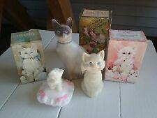 3 Avon Cat Empty Bottles ~ Royal Siamese ~ Blue Eyes ~ Sitting Pretty