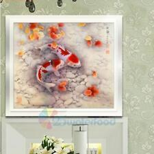 Double Fish DIY 5D Diamond Painting Embroidery Cross Crafts Stitch Home Decor