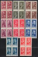 Romania 1947 MNH Mi 1048-1055 Sc B355-B362 Romanian & Russian famous men XXF ***
