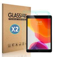 For iPad 10.2 inch 2019 7th Generation HD Tempered Glass Screen Protector 2PKS