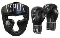 Boxing Gloves Head Guard Synthetic Leather UFC  Martial Arts Training Punching