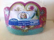 Disney Frozen Paper Tiaras Anna & Elsa Party Supplies Favours Dress Up 8 Pack