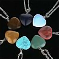 Cute Heart Shaped Necklace Gemstone Pendent Necklace