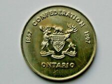 Ontario 1867-1967 Centennial Mining Medal with Miner & Multi-Metal Composition
