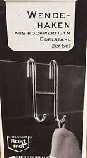 Wendehaken Handtuchhalter  2er Set  Edelstahl      80.8