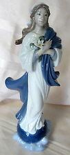 "Lladro #8642 Blessed Virgin Mary Bnib Flower Religion Christianity 12"" Save$ F/S"