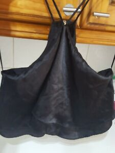 Lovely black halter neck top size 14 from Cameo Rose
