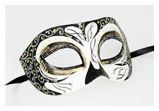 Masquerade Half Mask Cats Animal Men Women Costume Gold Ren Faire Cosplay Black