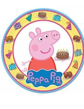 "8 Peppa Pig  Birthday Party Favors Big 9"" Lunch Dinner Large Paper Plates"
