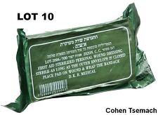LOT OF 10 dressingTrauma Bandage Field Emergency IFAK Israeli Army IDF