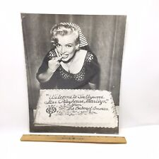 VINTAGE MARILYN MONROE EATING CAKE FROM NBC BLACK AND WHITE 11x14 PHOTO