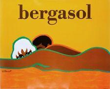 Bergasol Bernard Villemot on linen excellent A condition ORIGINAL VINTAGE POSTER