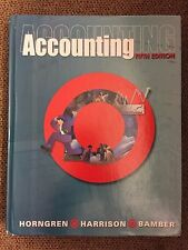 Accounting by Horngren, Harrison, Bamber,...TEXT BOOK