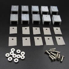 10pcs Aluminum Heatsink Heat Sink With Screw Sets Kits Transistors TO-220 BSG