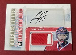 2012-13 ITG Forever Rivals Between The Pipes CAREY PRICE JERSEY/AUTO Canadiens