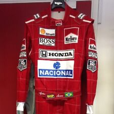 Ayrton Senna 1991 replica embroidered patches go kart race suit,In All Sizes