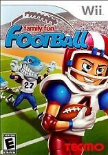 Family Fun Football - Nintendo Wii Video Game NIB BRAND NEW Free Shipping rare