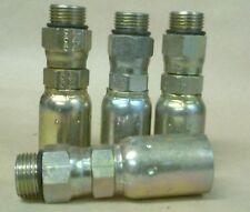 "4 Weatherhead Crimp Hydraulic Hose Fittings -10 Male Swivel ORB  x 1/2"" hose"