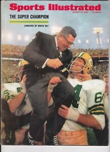 Vince Lombardi January 2 1968 Sports Illustrated No Label Green Bay Packers