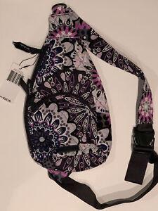 Vera Bradley Cotton Essential Compact Sling Crossbody Belt Bag Mimosa Medallion