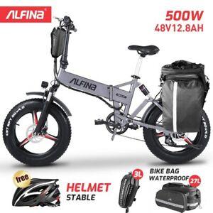4.0 Fat Tire 20inch Ebike Snow Mountain Beach Bike 500W Folding Electric Bicycle