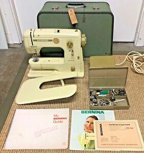 Bernina Minimatic 707 Sewing Machine, Accessories, Manual, and Case