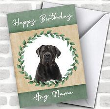Cane Corso Dog Green Animal Personalized Birthday Card