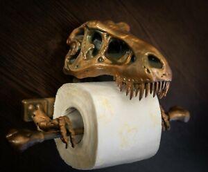 T-Rex Toilet Paper Holder 3D Printed - Bathroom accessories.