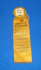 Vintage 1923 Riverside New Jersey Third Prize County Fair Ribbon