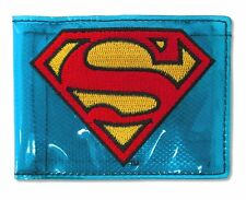 Superman Fat Free Transparent Blue Bifold Wallet New Official