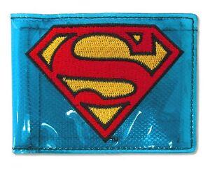 Superman Fat Free Transparent Blue Bifold Wallet New Official