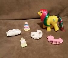 Vintage My Little Pony BABY TIC TAC TOE First Tooth Accessorie Lot Paste Pillow