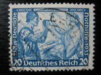 THIRD REICH Mi. #505A scarce used Wagner stamp (perf 14:13)! CV $300.00