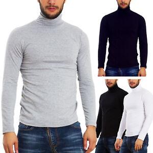 Lupetto uomo maglia manica lunga dolcevita felpato collo alto TOOCOOL A6957
